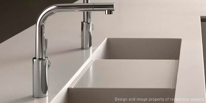Kitchen Sinks | Corian® - I like the work & cutting surface in ...