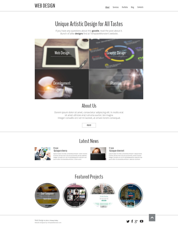 Free Website Template for Design Portfolio http://www ...