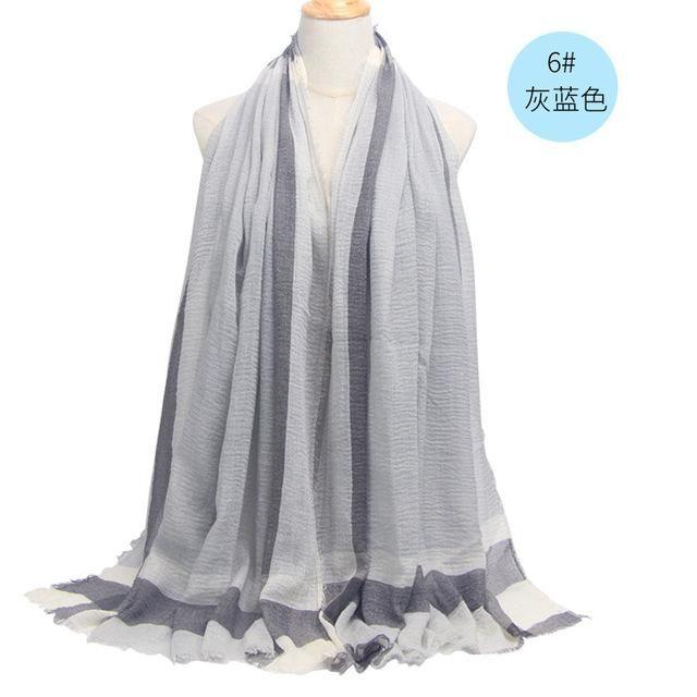 Brand Winter Scarf Men Warm Soft Tassel Bufandas Cachecol Gray Plaid Woven Wrinkled Cotton Men Scarves #mensscarves