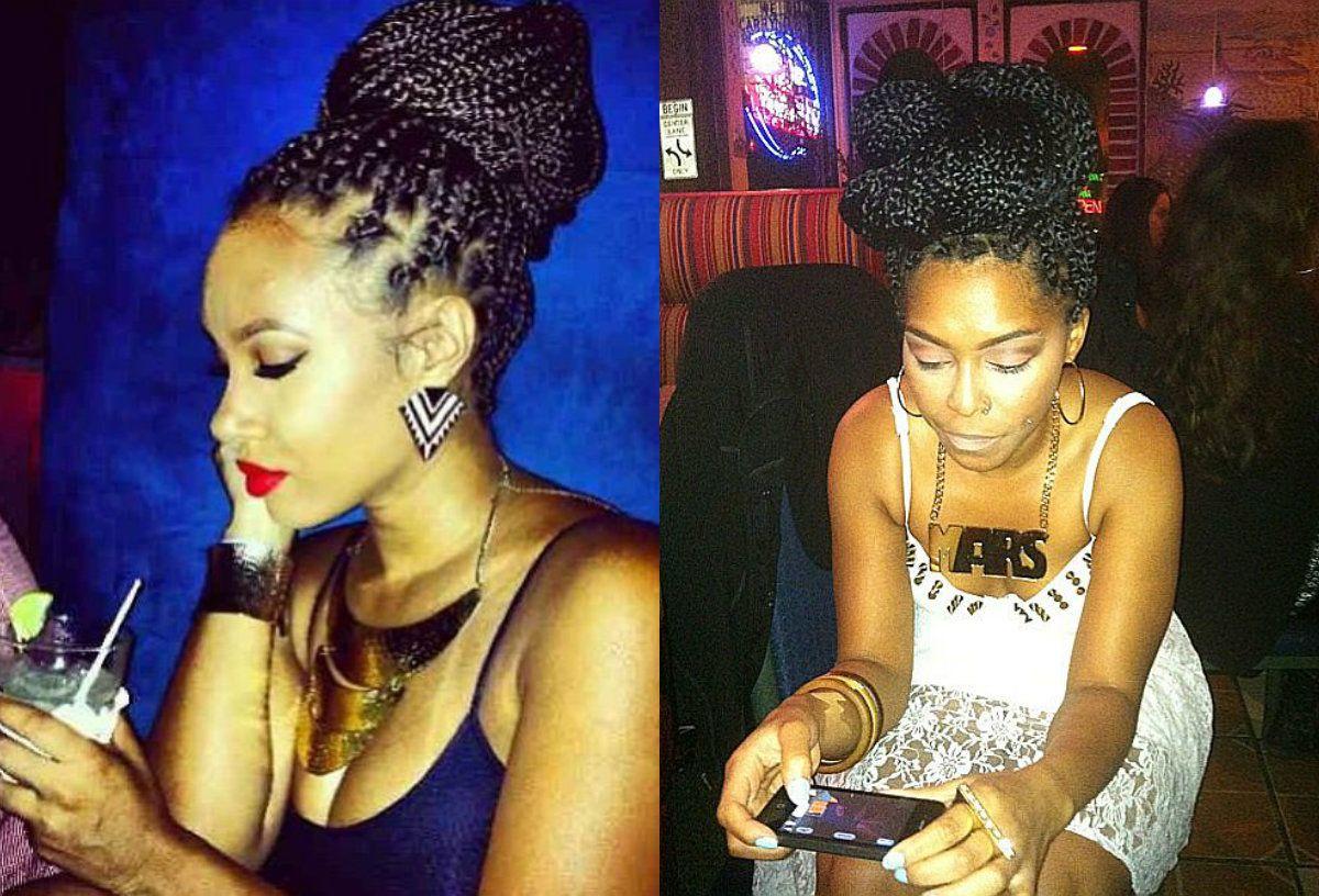 Black Braided Bun Hairstyles Black Women Bun Hairstyles Black Women Braids Pinterest