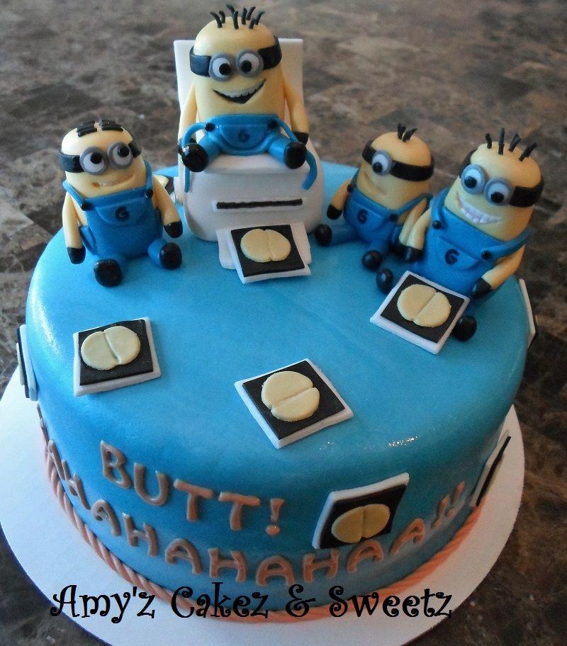 Minion birthday cake Cakes Pinterest Birthday cakes Birthdays
