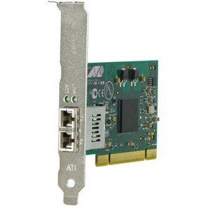 Allied Telesis AT-2916SX Fiber Network Interface Card (AT-2916SX/LC-901) - by Allied Telesis. $196.03. Main FeaturesManufacturer/Supplier: Allied Telesis, IncManufacturer Part Number: AT-2916SX/LC-901Manufacturer Website Address: www.alliedtelesis.comBrand Name: Allied TelesisProduct Series: AT2916Product Model: AT-2916SXProduct Name: AT-2916SX Fiber Network Interface CardMarketing Information: Allied Telesis' AT-2916SX is a highly reliable 32-bit PCI Gigabit fiber inte...
