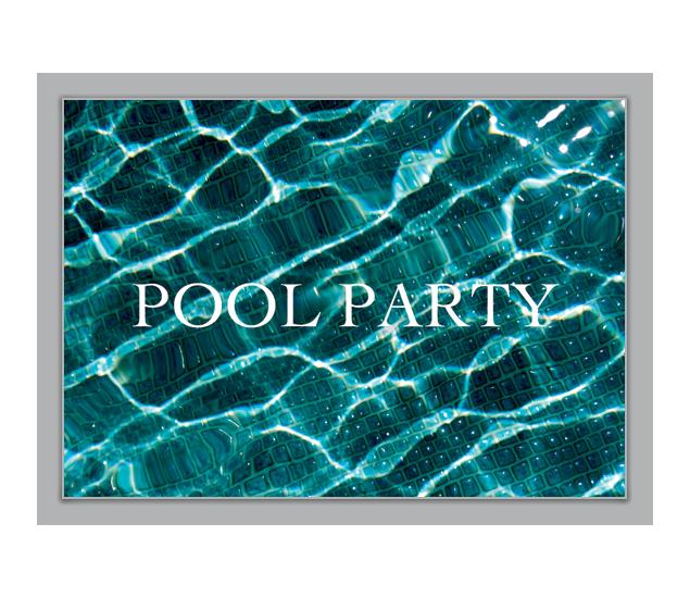 Einladung zur Pool Party - http://www.1agrusskarten.de/shop ...