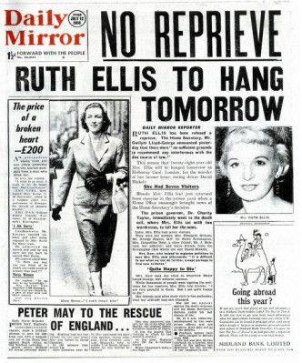 Image result for the hanging of ruth ellis