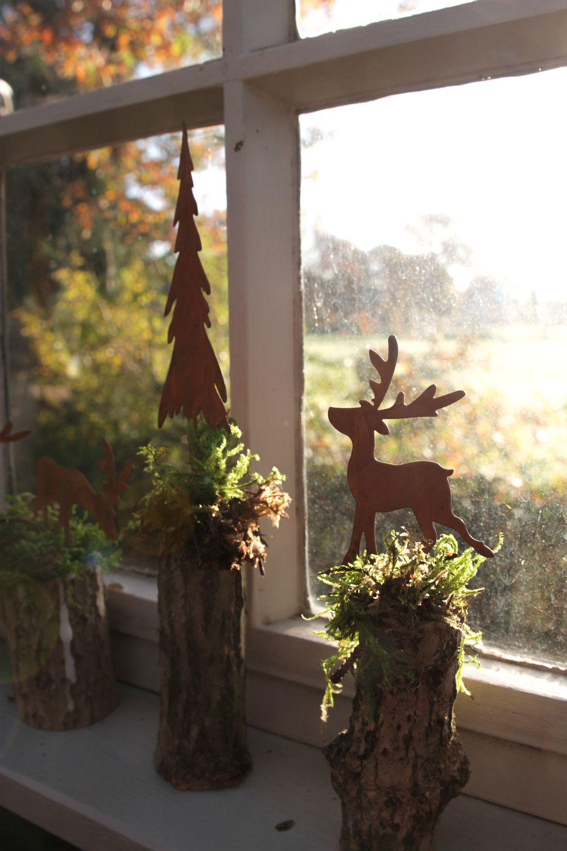 Süße Hirsche als Winterdeko