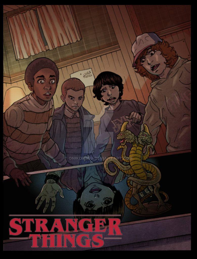 Stranger Things TV series original sticker fantasy fiction horror kawaii anime