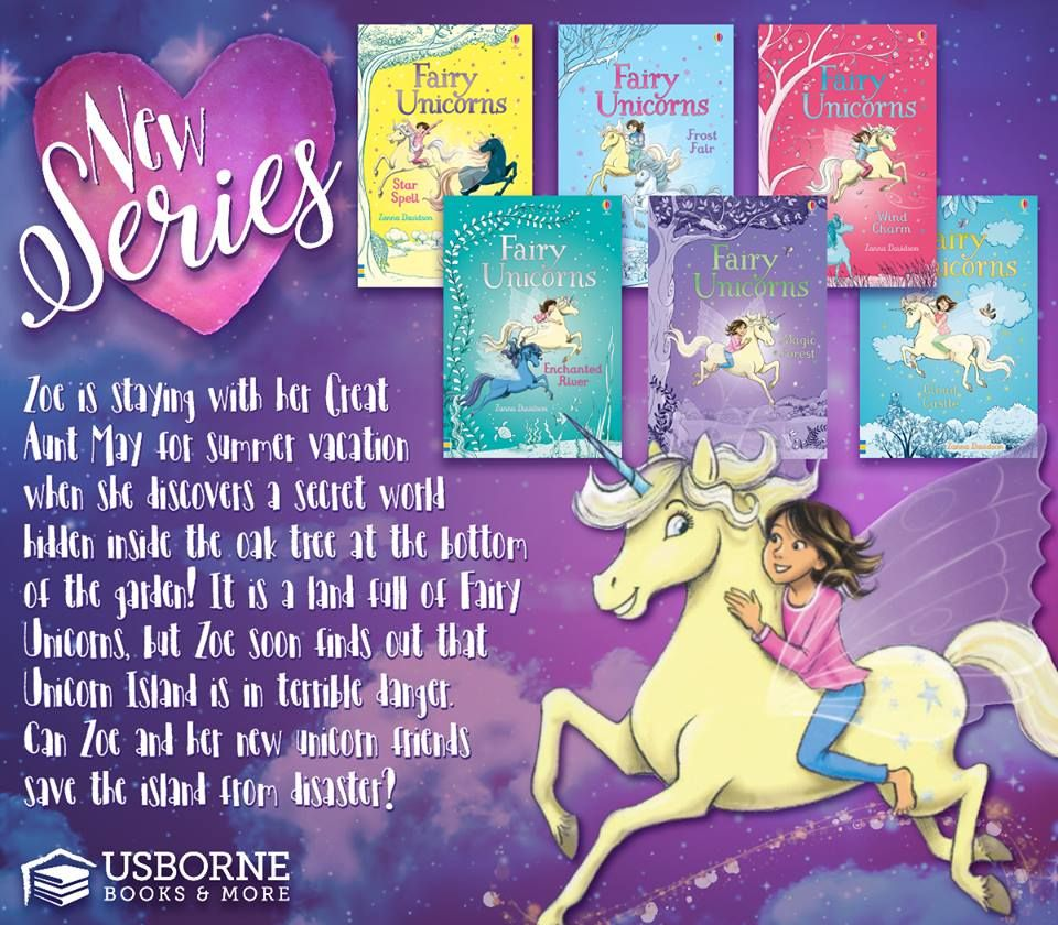 Fairy Unicorns Complete Collection 24 99 Zoe Is Staying With Her Great Aunt May For Summer Vacation When She Usborne Books Usborne Books Party Unicorn Books
