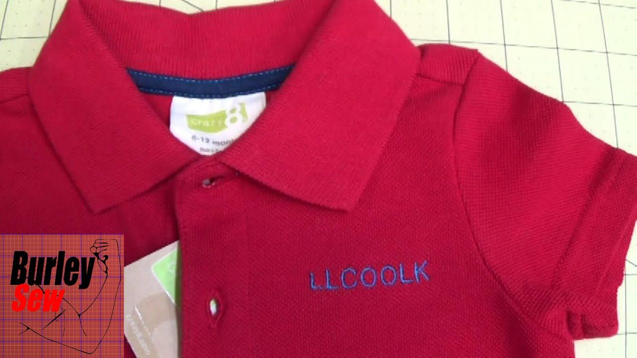 How To Hoop and Embroider Names on a Small Polo Shirt