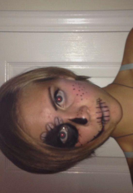 #halloween #halloweenmakeup #spooky #scary #amateurmakeup #stitches #smile