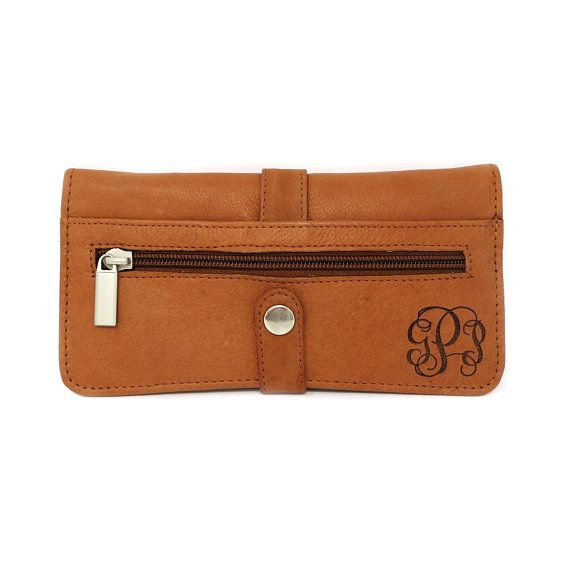 Monogrammed Womens Leather Wallet Gifts For Her Anniversary Mother S Day Personalized Bridesmaid Maid Of Honor Christmas