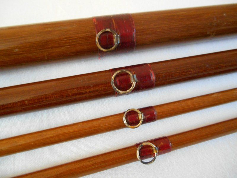 Floppy eye line guides on wood fishing pole the rustic for Wooden fishing pole