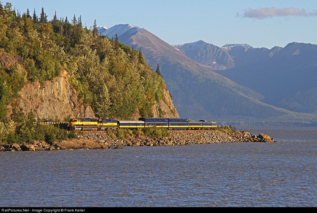 The NRHS Charter train returns from a day in Seward. From