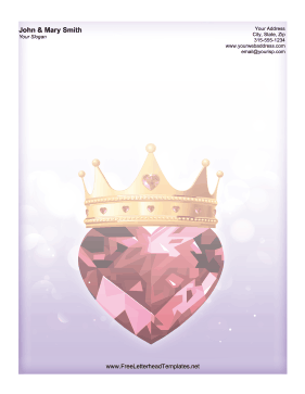 A gem heart topped with a crown makes this Valentines Day