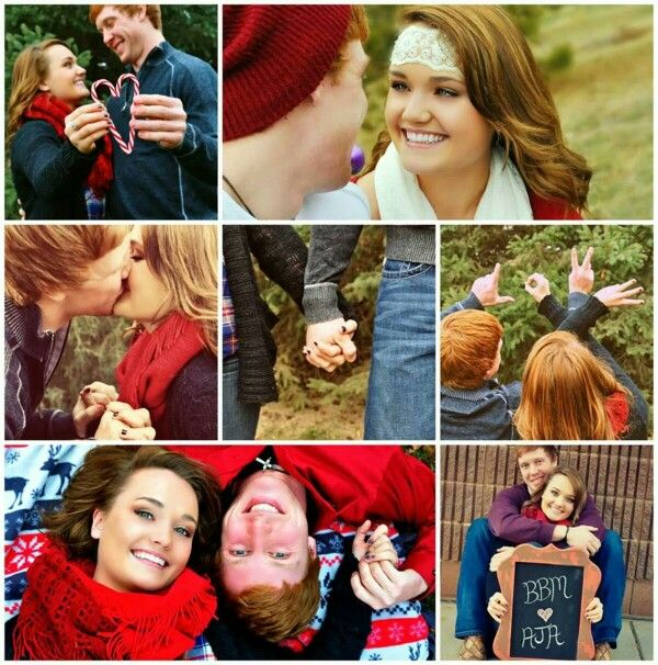 Couple Photography boyfriend girlfriend anniversary pictures Christmas holiday cute props poses