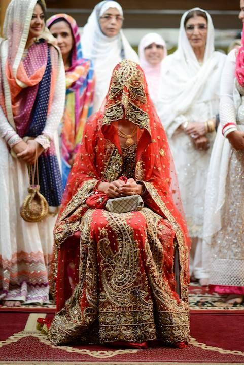 Desi South Asian Indian Muslim Bride Bridal Outfit Wedding Dress