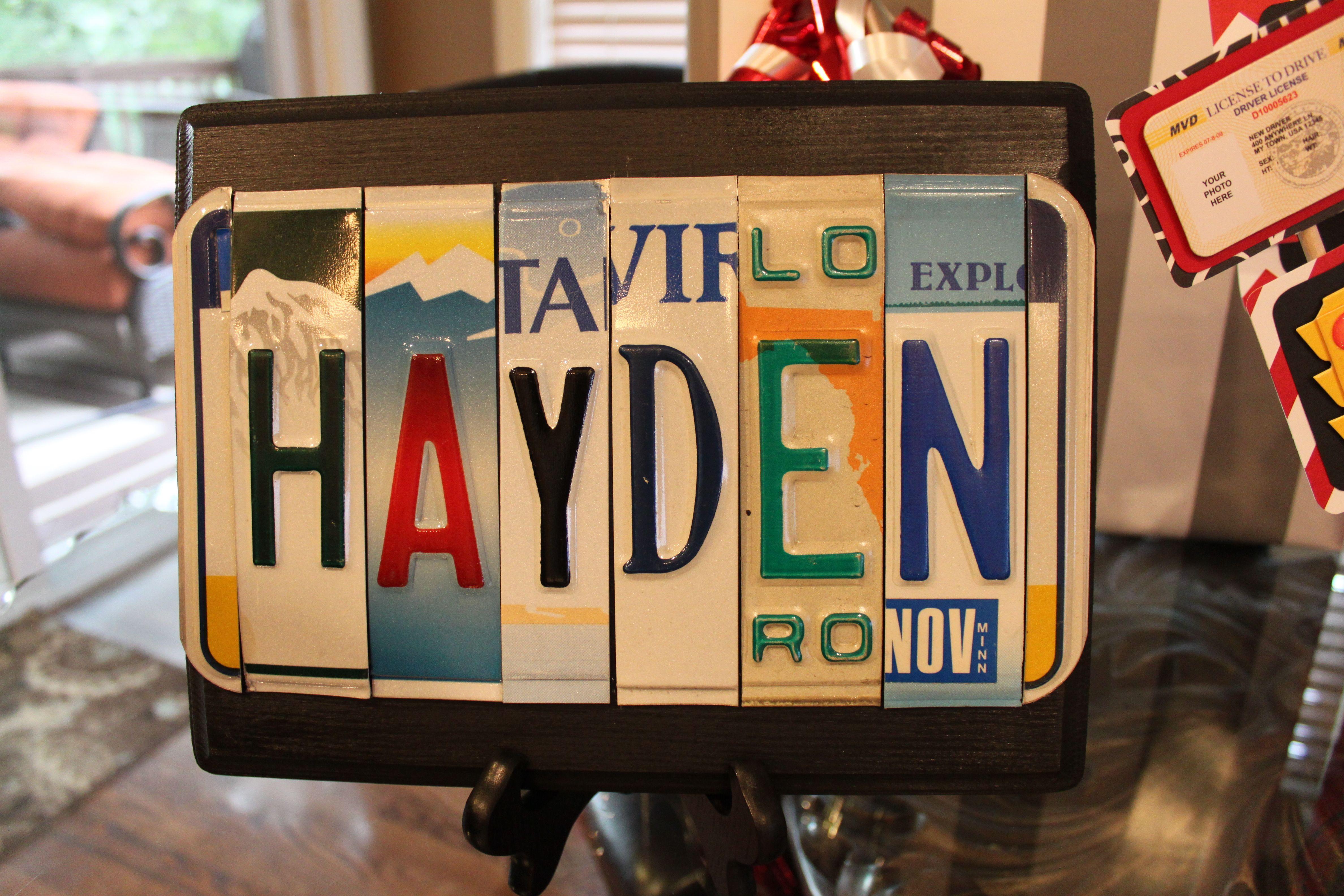License Plate Sign Boy 16th Birthday Decoration New