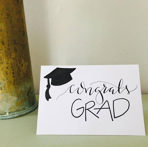 Photo of Graduation / custom calligraphy card