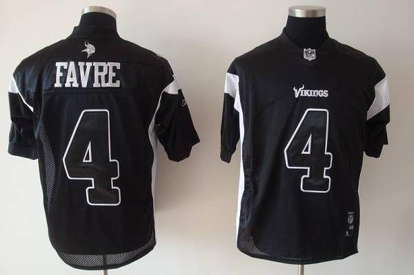 the latest 018c2 44f3f Vikings #4 Brett Favre Black Shadow Stitched NFL Jersey ...
