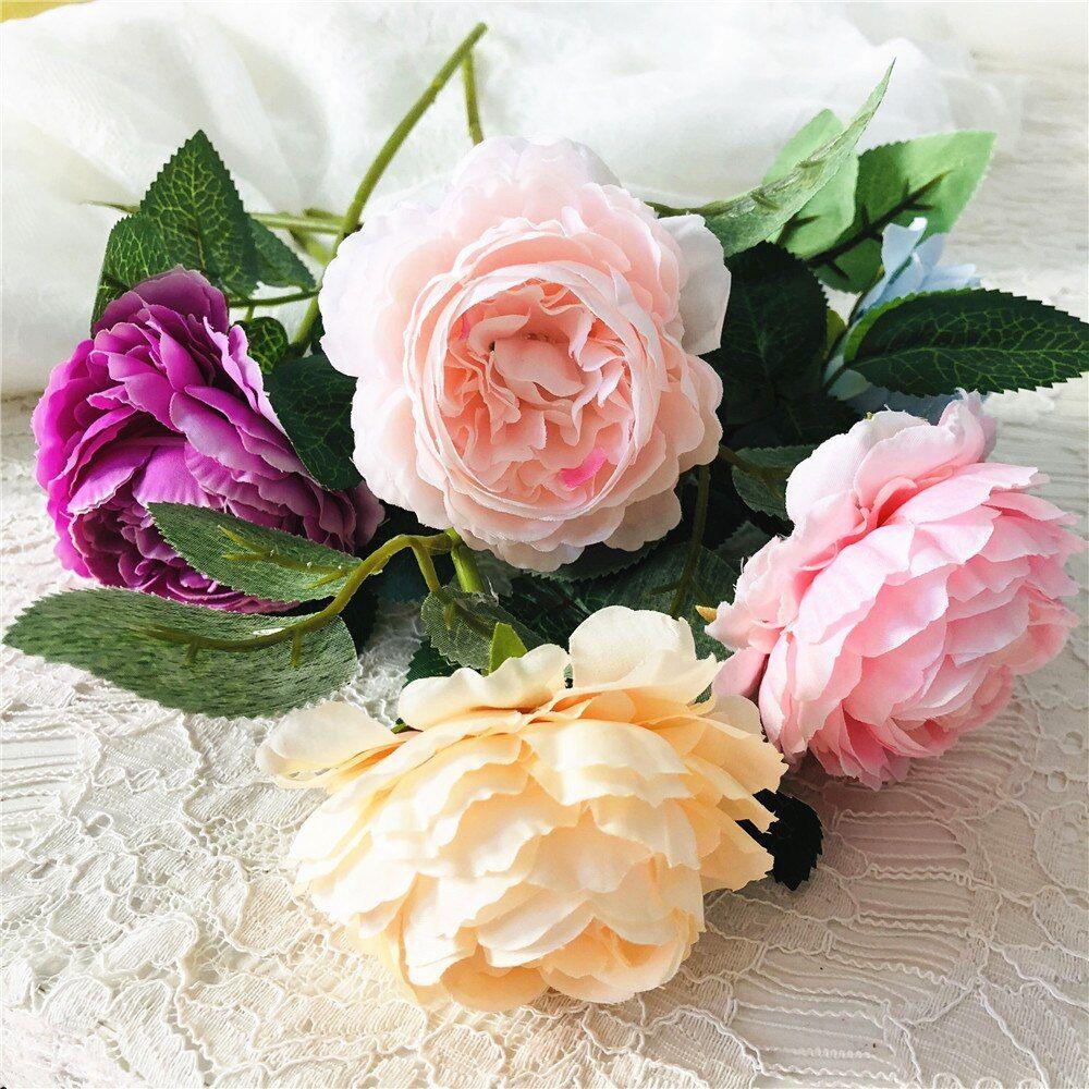 #rose #bouquet #simulation #dried #flower #wedding #party #arrangement #living #room #decoration #decor #festive #supplies