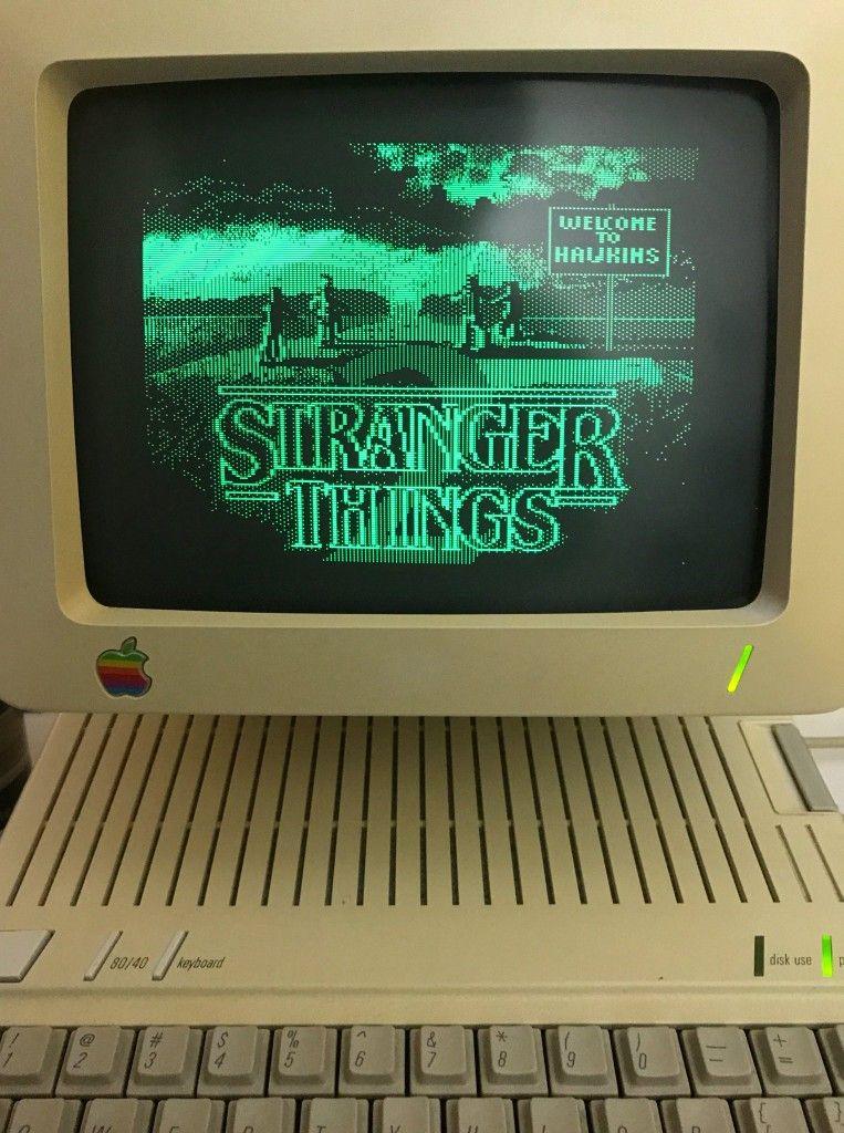 Stranger Things Apple Ii Retro Art Https Twitter Com Pinot