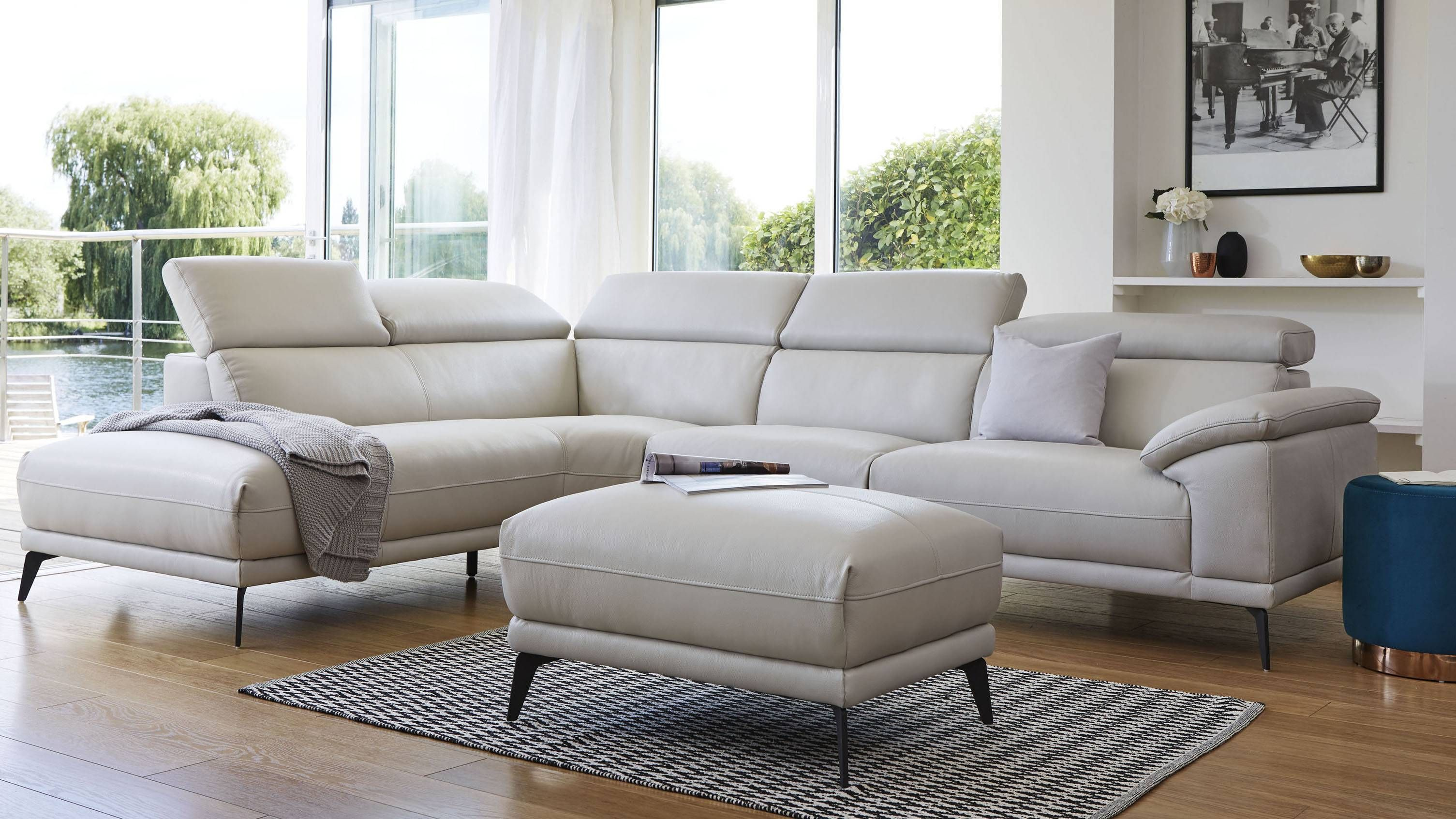 Pleasant Siena Left Hand Modern Leather Corner Sofa Lounge Ideas Home Interior And Landscaping Spoatsignezvosmurscom