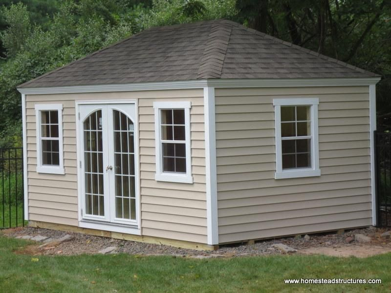 10 X 14 Laurel Hip Shed W Crown Molding Facia Vinyl Siding Shed Hip Roof Backyard