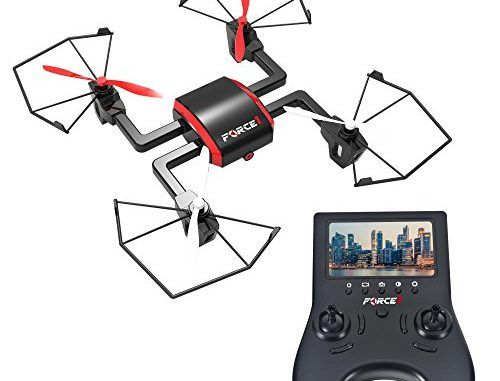 Focus FPV Drone with HD Camera 720p - RC Quadcopter with Headless Mode and Flip Mode (Black & Red) - Includes Extra Batteries for Drone and Controller | RC Drones And Helicopters