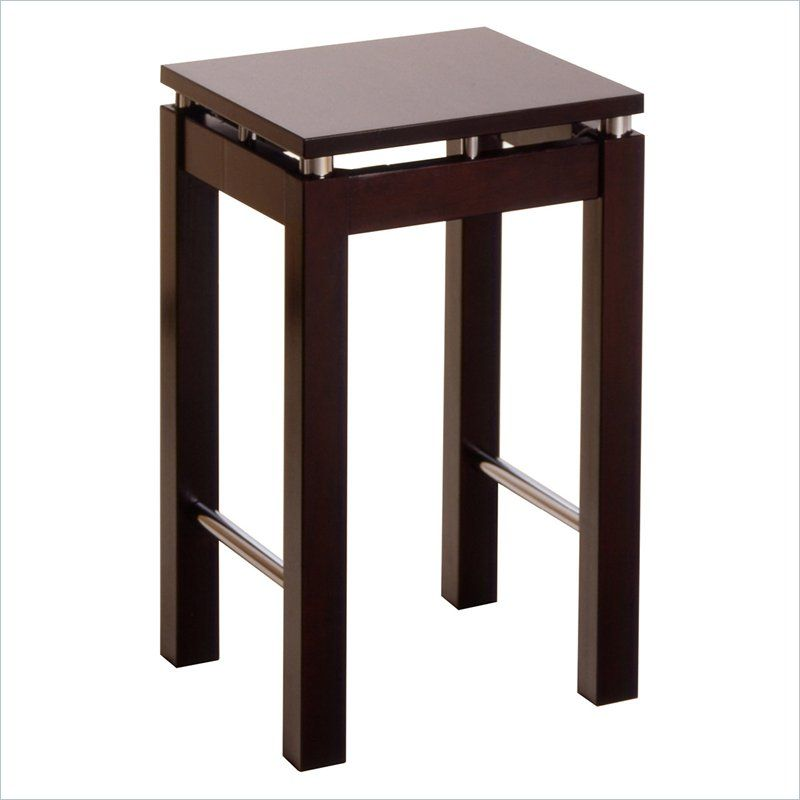 "$58.50 Linea 24"" Counter Height Bar Stool in Espresso - 92724 - Lowest price online on all Linea 24"" Counter Height Bar Stool in Espresso - 92724"