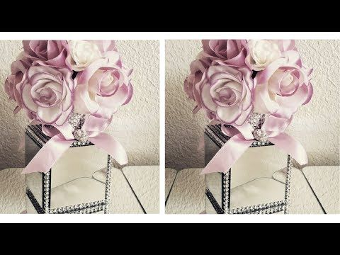 Diy Bling Glam Gl Mirror Rose Box Decor You Dollar Crafts Pinterest 99 Cents And Toilet Paper