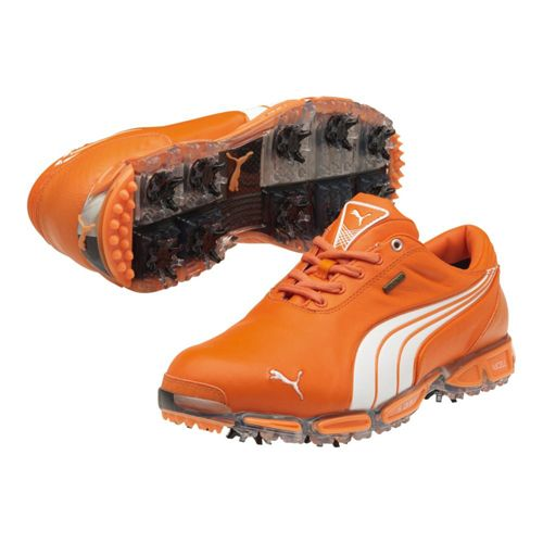 Puma Super Cell Fusion Ice LE Golf Shoes - Mens Vibrant Orange White - The  Limited Edition shoes worn by Rickie Fowler 9842a51da