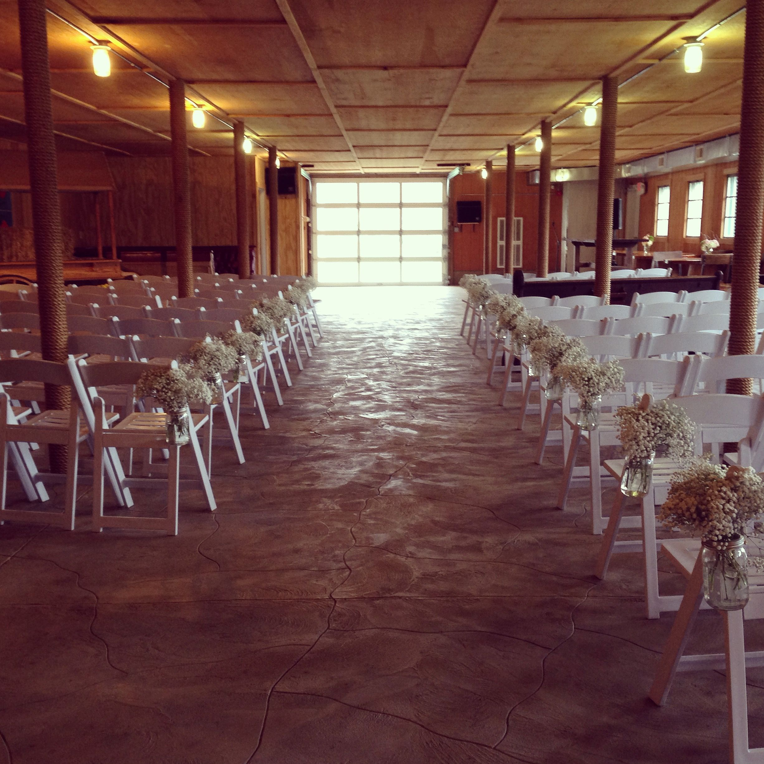 Indoor Wedding Ceremony Victoria Bc: Indoor Ceremony Downstairs In The Barn. #ceremony #barn