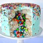Photo of Candy-Filled Funfeti Piñata Cake Recipe by Liz Swartz