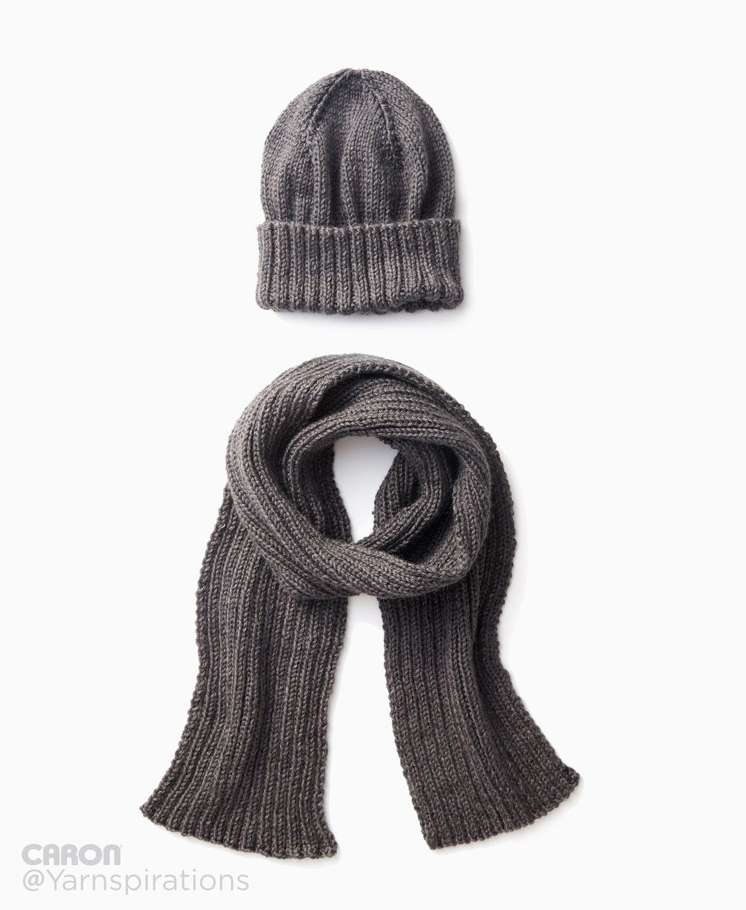 Men\'s Basic Hat and Scarf Set | Knitting Patterns | Pinterest