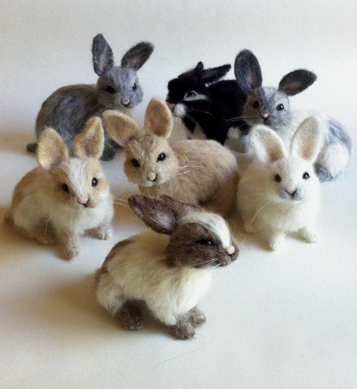 Мастер-класс по валянию крольчонка / Felted Rabbit Tutorial #felting #tutorial #needlefeltedbunny - Style Pin Blog