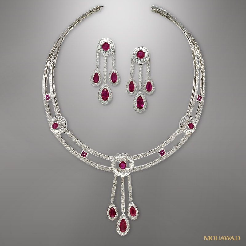 matching ruby jewelry sets jewelry and