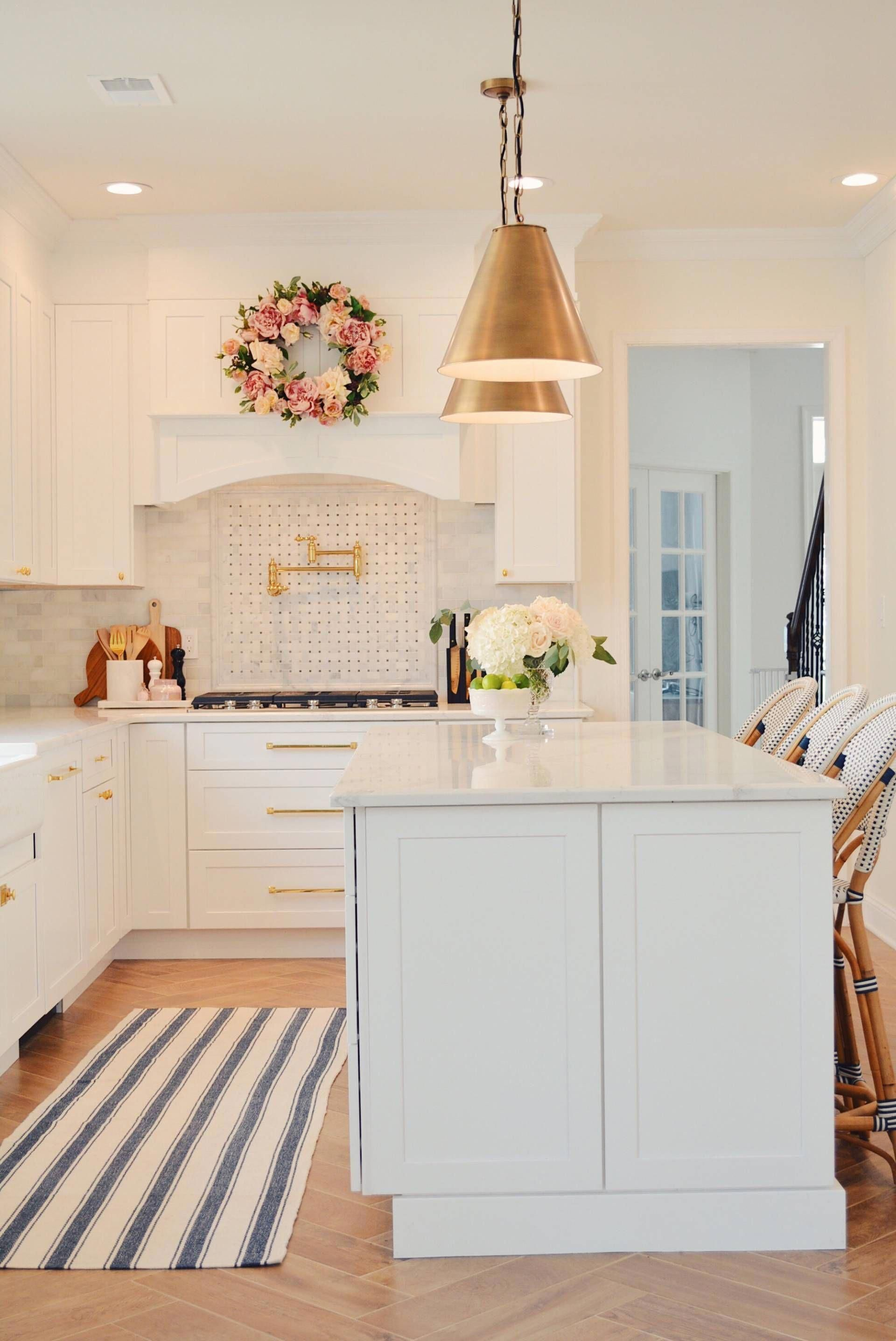 Classic White Kitchen Remodel, with white shaker cabinets ...