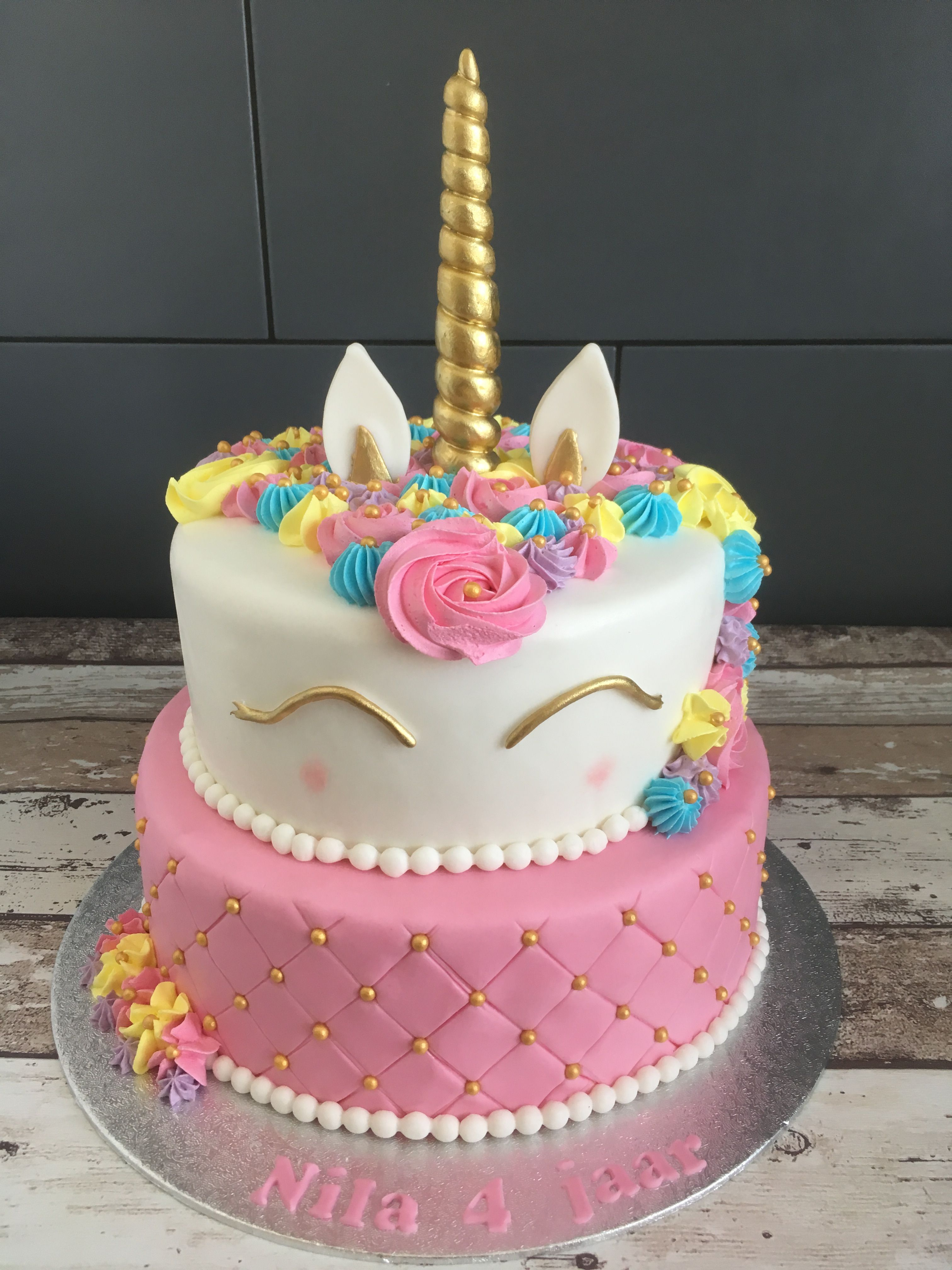 2 Tier Fondant Unicorn Cake