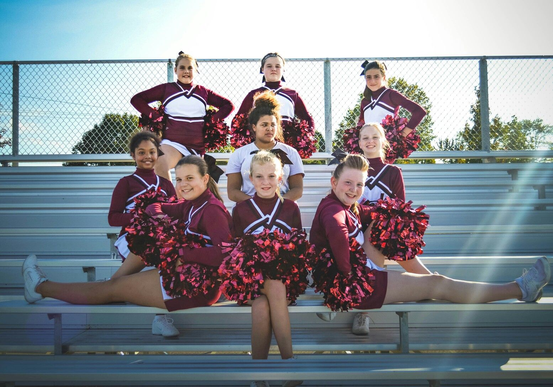 Rolla youth cheerleadering, ryc, 2016, Rolla, Missouri, Rolla maddawgs, maddawgs, Rolla Bulldogs, bulldogs, cheerleaders, cheerleading, cheer pictures, team photos, cheerleading photos