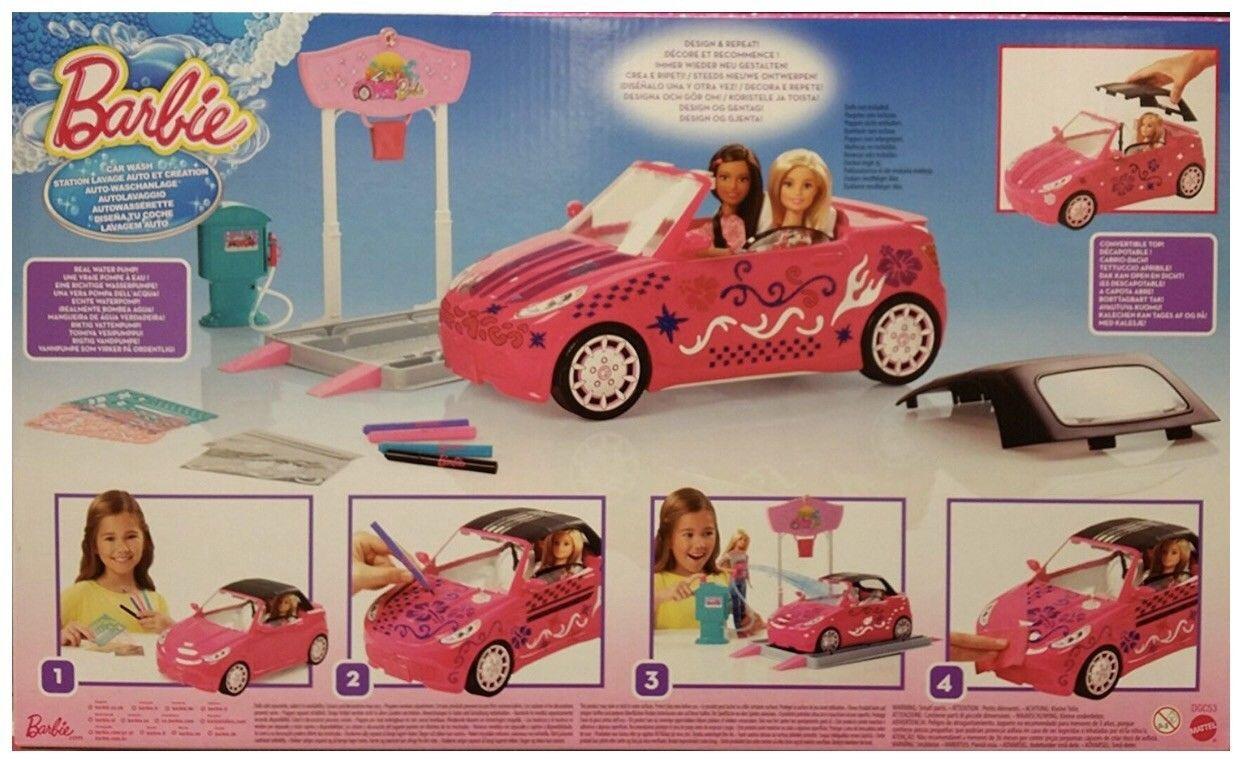 Details about Barbie Car Wash Design Studio NEW SEALED Fast Ship! Rare #barbiecars