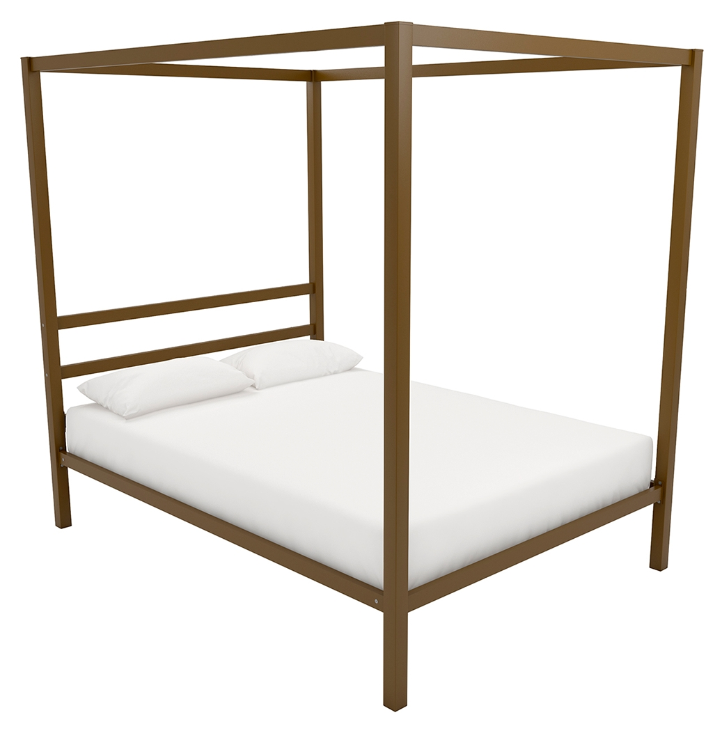 Modern Canopy Full Bed Gold Finish Metal Canopy Bed Modern Canopy Bed Metal Canopy