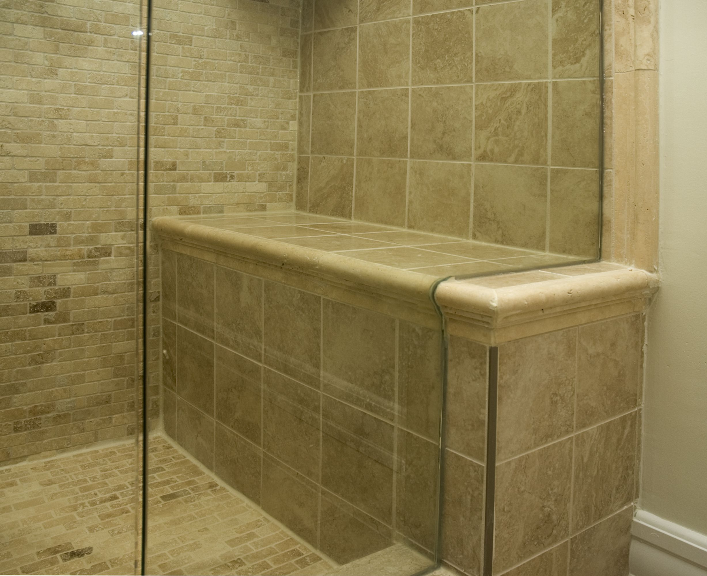 Shower Bench. Designed & built by Floor & Bath Design Inc. | Shower ...