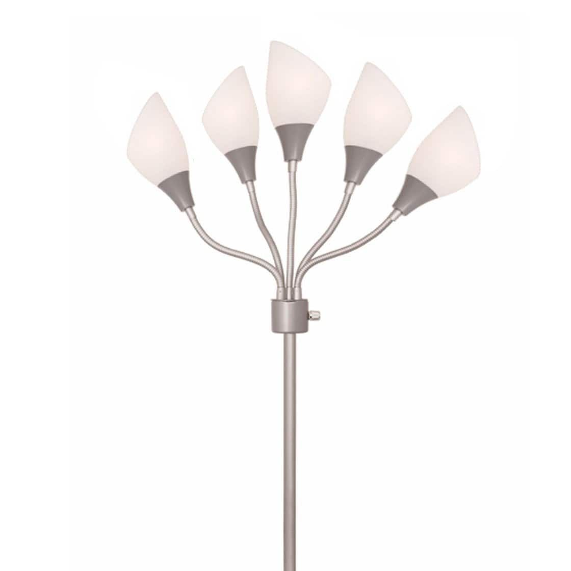 Light Accents Floor Lamp Medusa Silver Metal Kids With Multi Colored Acrylic Shades Incandescent Plastic Casual Shade