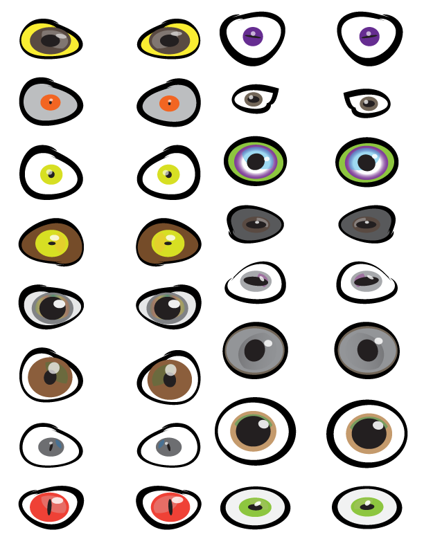 It is a photo of Fabulous Free Printable Eyes for Crafts