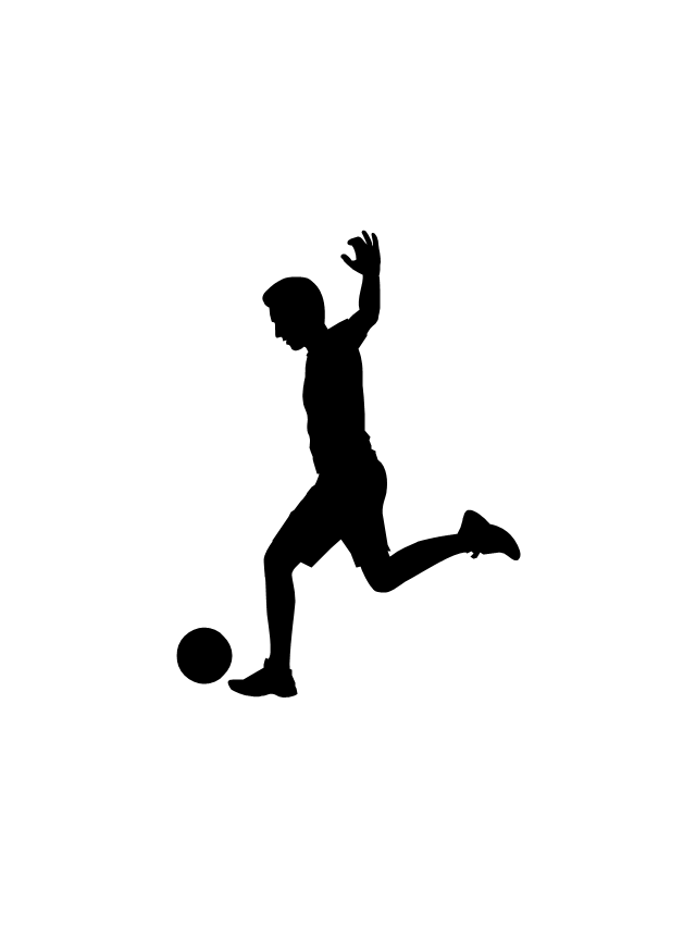 Soccer Silhouettes Vector Stencils Library In 2020 Soccer Silhouette Silhouette Vector Silhouette