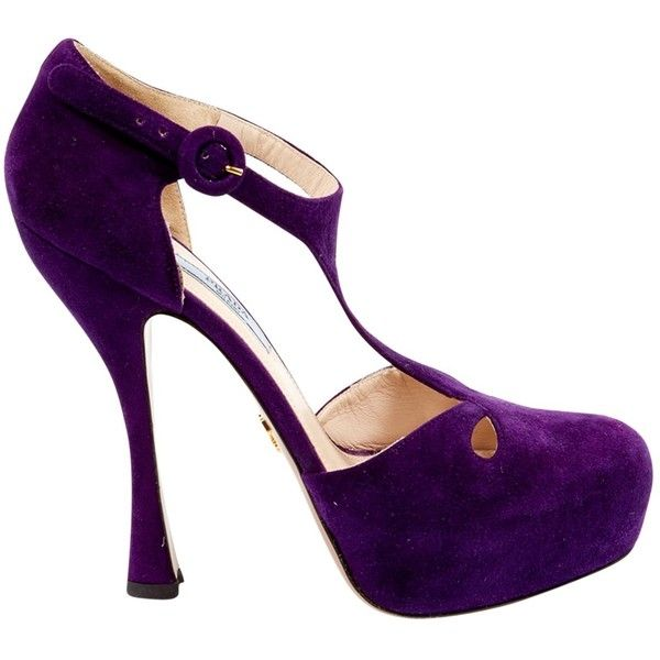 Pre-owned Prada Heels ($153) ❤ liked on Polyvore featuring shoes, pumps · Purple  PumpsWomen ...