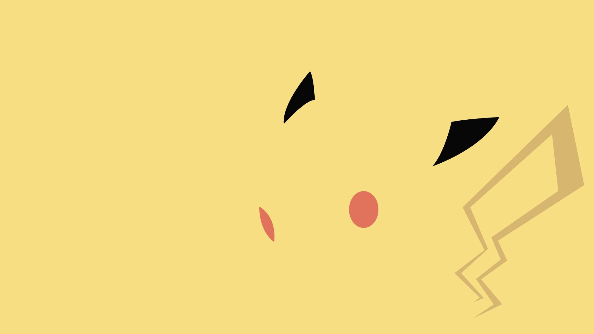 Awesome minimalist pikachu wallpaper there is a whole for Minimalist homepage