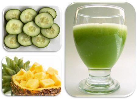Detox-Getränke mit Gurke und Ananas | Smoothie | Pinterest ...