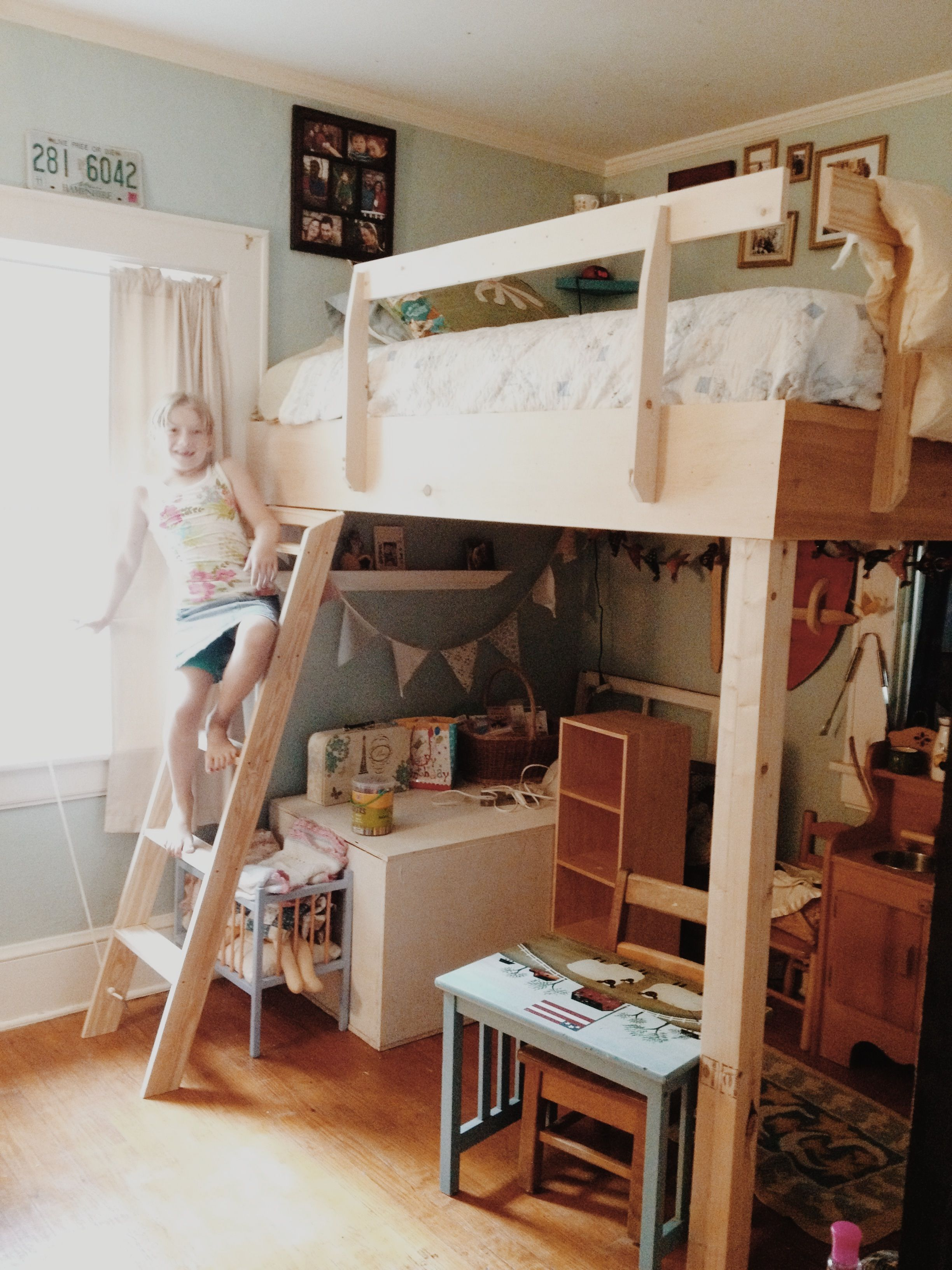 Clara and her loft bed. Loft bed, Home decor, Bed