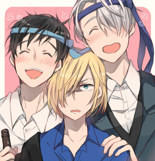 Poor Yurio, having to dead with his drunk dads.