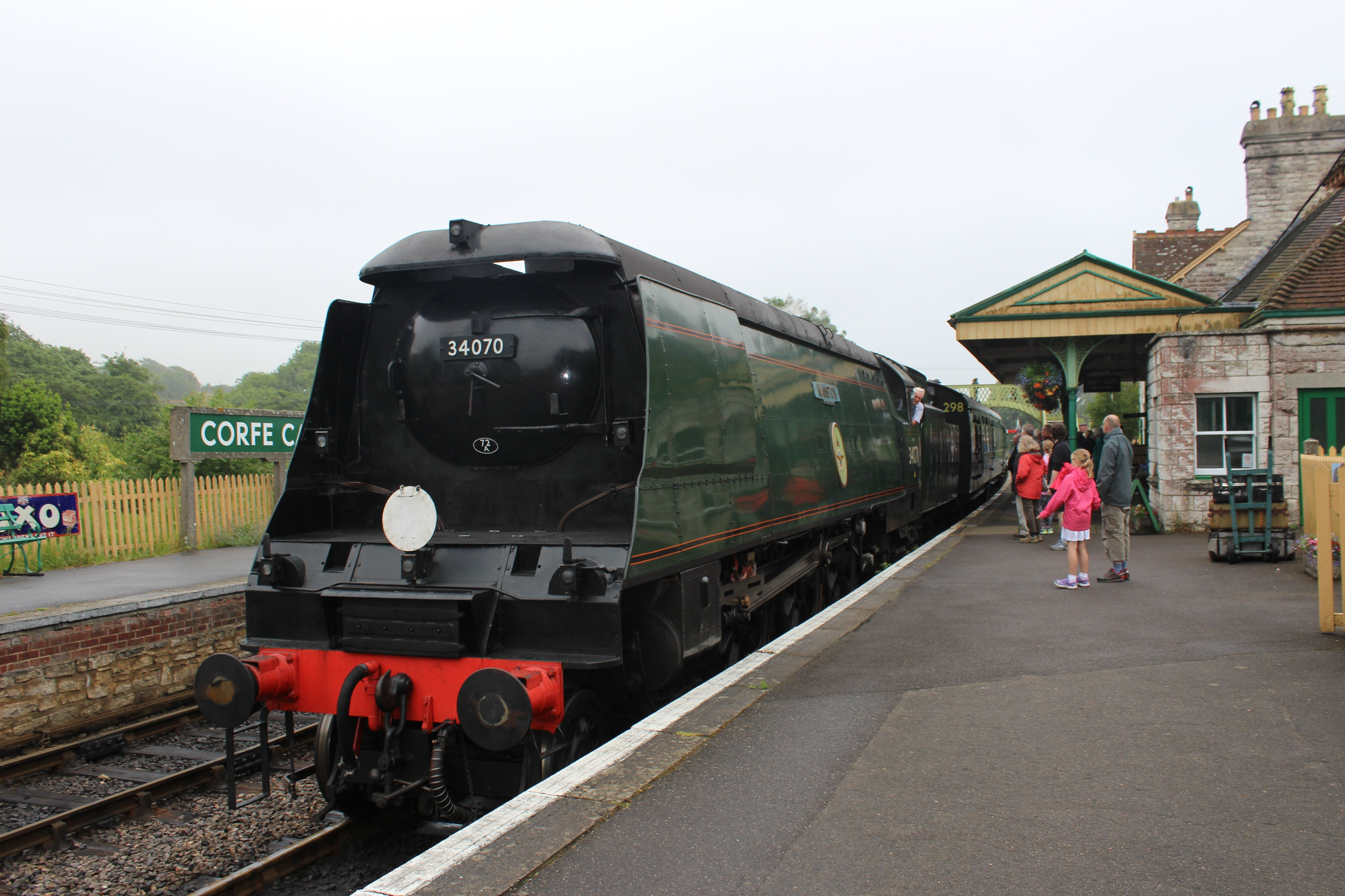 MANSTON Battle of Britain Class at Corfe Castle on the